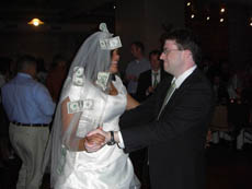 Me Dollar Dancing with the Bride