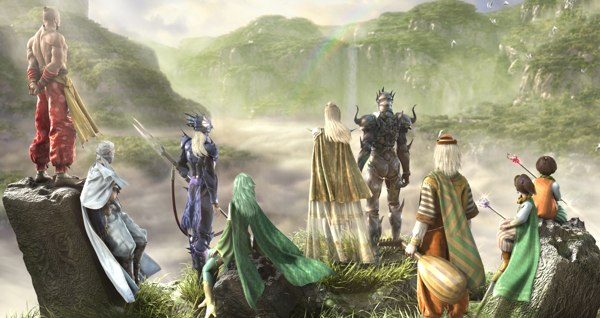 Final Fantasy IV DS Characters Art
