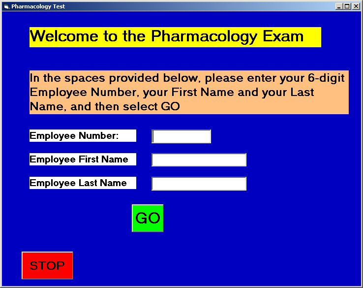 Hospital Questions: Documentation: Start Page