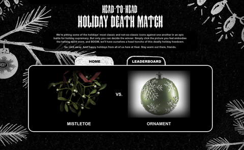 Head2Head Holiday Death Match
