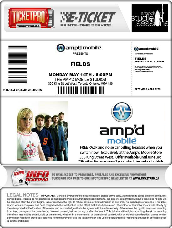 Ticketpro Ampd Example Ticket